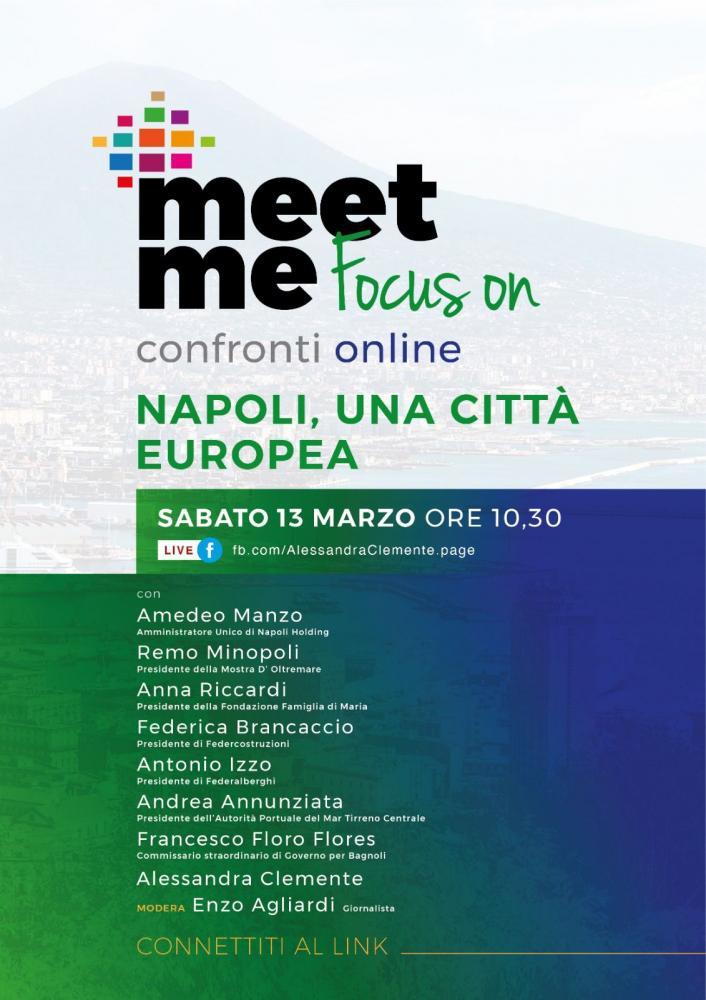 Napoli, Piano Strategico Metropolitano e Recovery Plan. Napoli: due confronti online con Alessandra Clemente